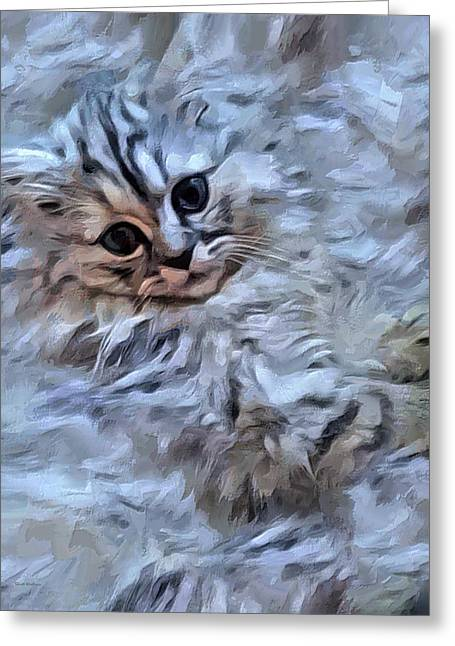 The Cotton Kitty  Greeting Card by Scott Wallace