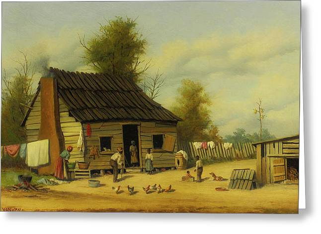 The Cotton Pickers Cabin Greeting Card by William Walker