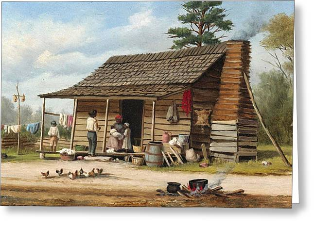 The Cotton Pickers Family Greeting Card by William Aiken Walke