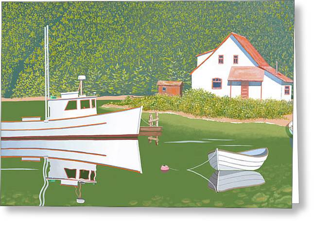 The Cottsge At Blackberry Point Greeting Card