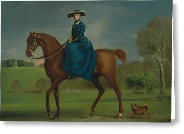 The Countess Of Coningsby In The Costume Of The Charlton Hunt Greeting Card by George Stubbs