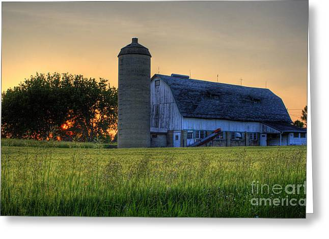 The Country Sunset Greeting Card by Joel Witmeyer