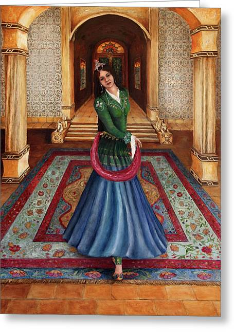 The Court Dancer Greeting Card