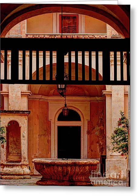 The Court Yard Malta Greeting Card