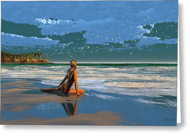 The Courtship Of Sand Greeting Card by Dieter Carlton