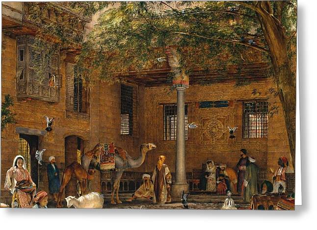 The Courtyard Of The Coptic Patriarch's House In Cairo Greeting Card