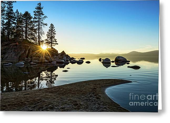 The Cove At Sand Harbor Greeting Card