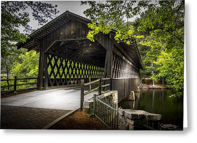 The Coverd Bridge Greeting Card by Marvin Spates