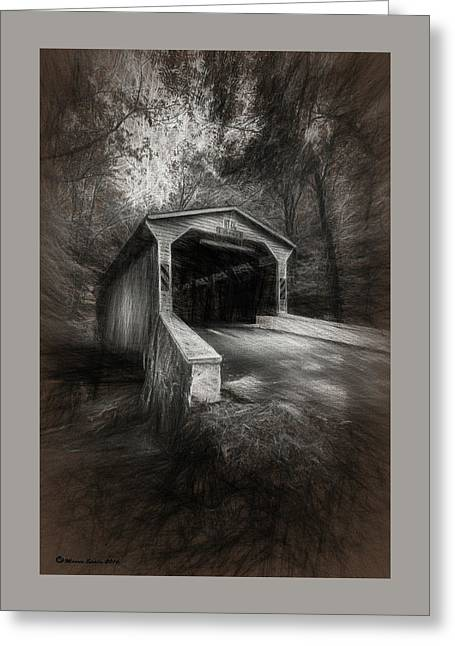 The Covered Bridge Greeting Card by Marvin Spates