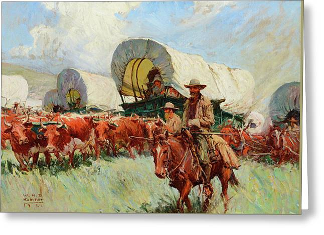 The Covered Wagon Greeting Card