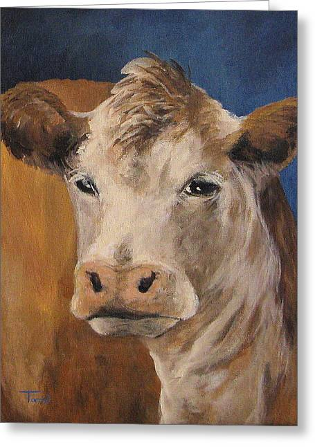 The Cow Greeting Card by Torrie Smiley