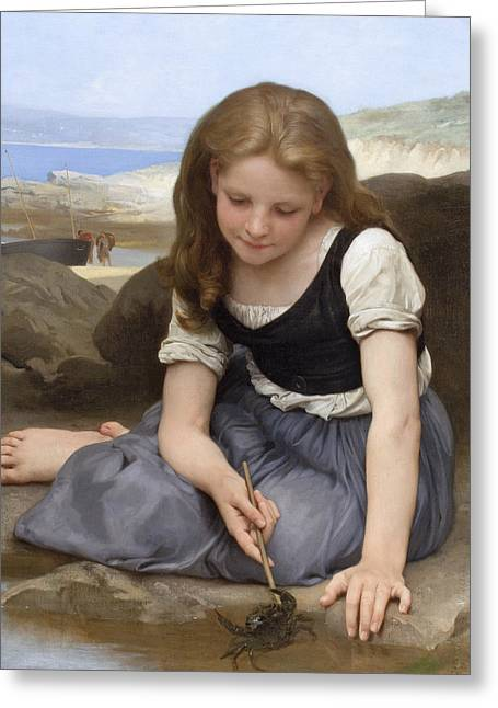 The Crab Greeting Card by William-Adolphe Bouguereau