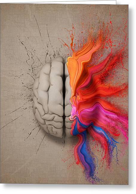 The Creative Brain Greeting Card