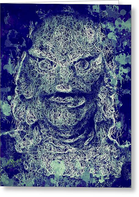 Greeting Card featuring the mixed media Creature From The Black Lagoon by Al Matra