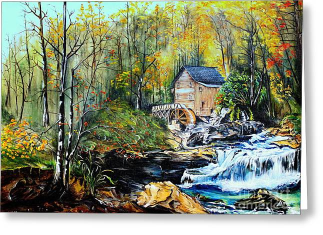 Greeting Card featuring the painting Glade Creek by Farzali Babekhan