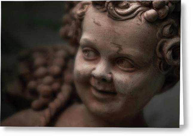 The Creepy Statue Greeting Card