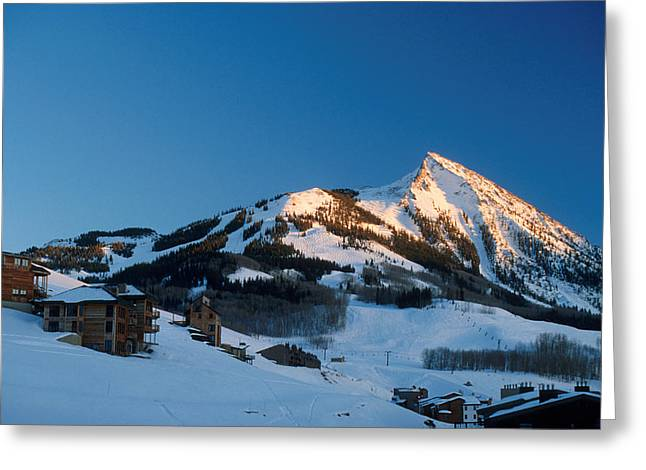 The Crested Butte Greeting Card by Jerry McElroy