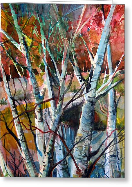 The Cries Of Autumn Greeting Card by Mindy Newman