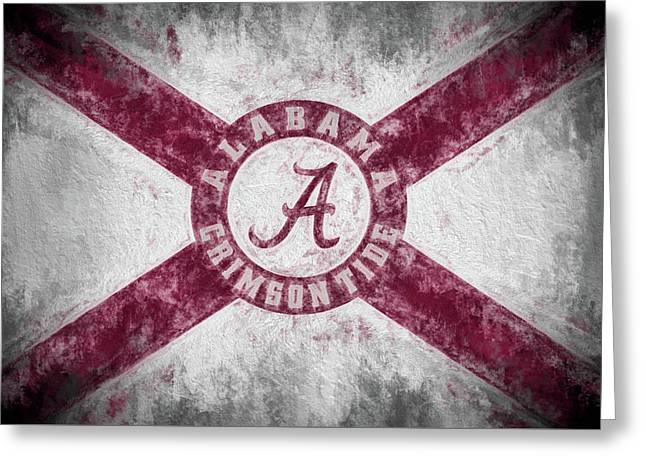 The Crimson Tide State Flag Greeting Card by JC Findley