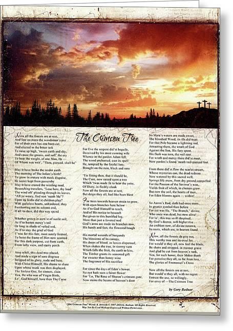 The Crimson Tree Poem Greeting Card