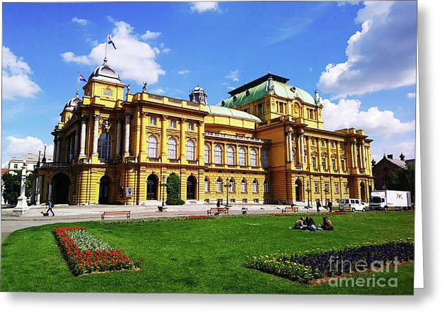 The Croatian National Theater In Zagreb, Croatia Greeting Card