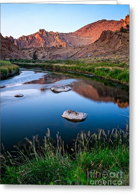 The Crooked River Runs Through Smith Rock State Park  Greeting Card