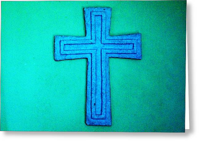 The Cross He Died On For Me Greeting Card