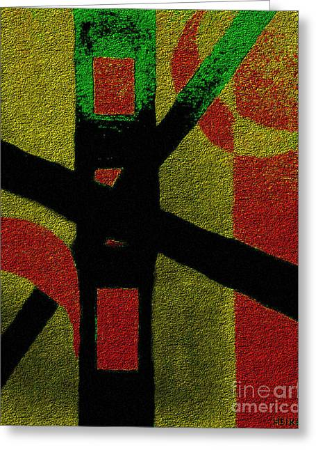 The Cross Overcomes Greeting Card