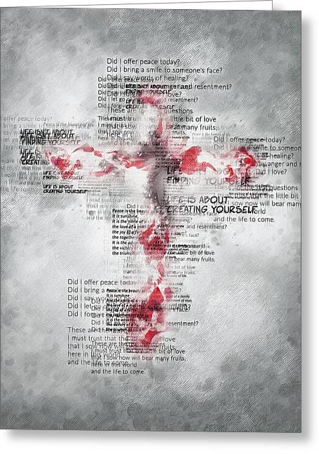 The Cross Speaks Greeting Card