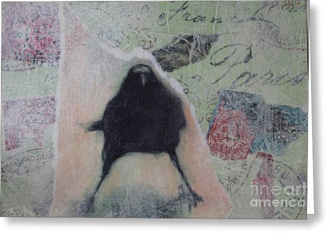 The Crow Called The Raven Black Greeting Card