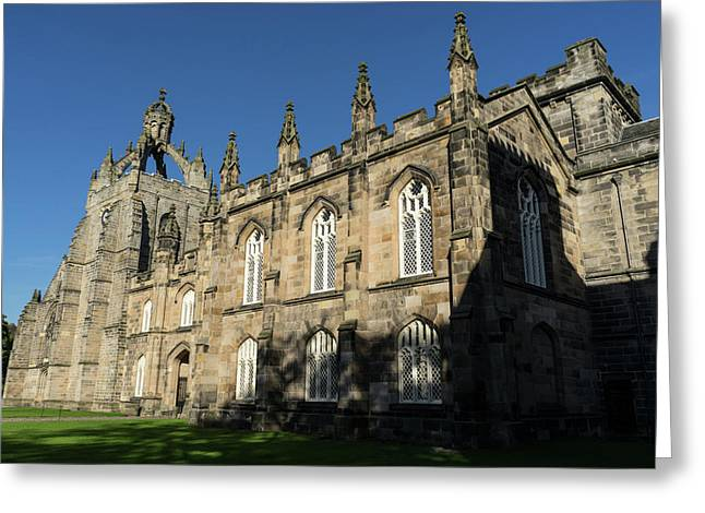 The Crown Tower - University Of Aberdeen Kings College Chapel Greeting Card