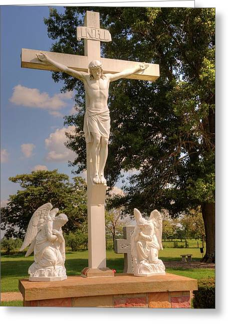 The Crucifixion Greeting Card by Paul Lindner