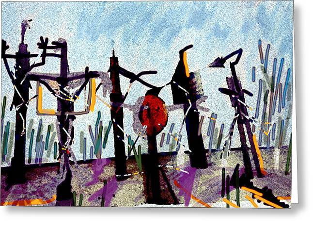 The Crucified...after Picasso Greeting Card by Paul Sutcliffe