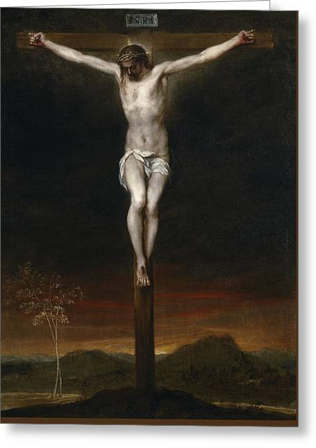 The Crucifixion Greeting Card by Alonzo Cano