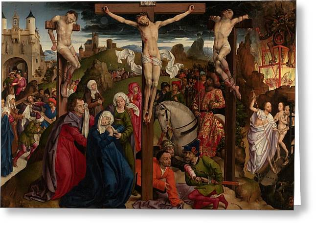 The Crucifixion Greeting Card by Dreaux Bude Master