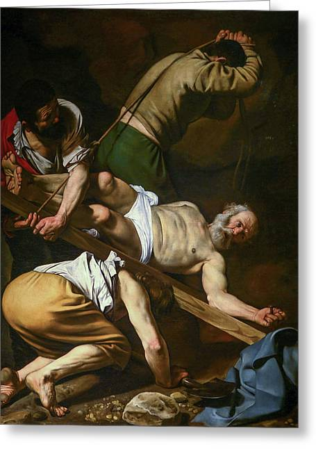 The Crucifixion Of Saint Peter Greeting Card