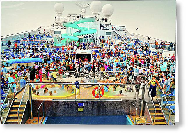 The Cruise Greeting Card by Diana Angstadt