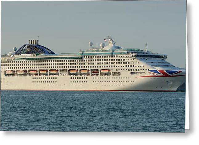 Greeting Card featuring the photograph The Cruise Ship Oceana by Bradford Martin