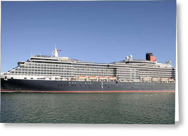 Greeting Card featuring the photograph The Cruise Ship Queen Victoria by Bradford Martin
