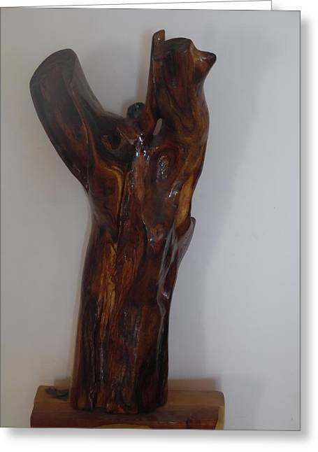 Greeting Card featuring the sculpture The Cry Of Angels by Esther Newman-Cohen