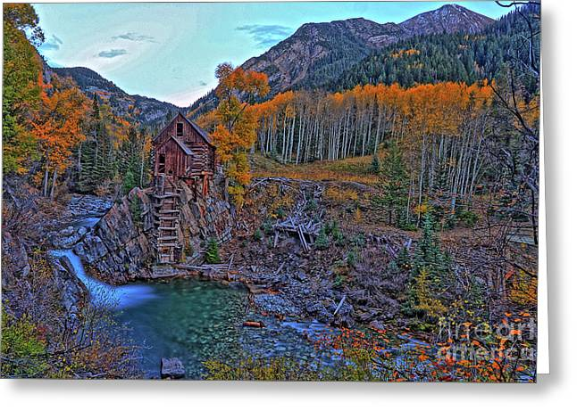 Greeting Card featuring the photograph The Crystal Mill by Scott Mahon