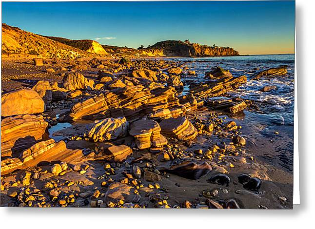 The Crystal Cove Greeting Card by Peter Tellone
