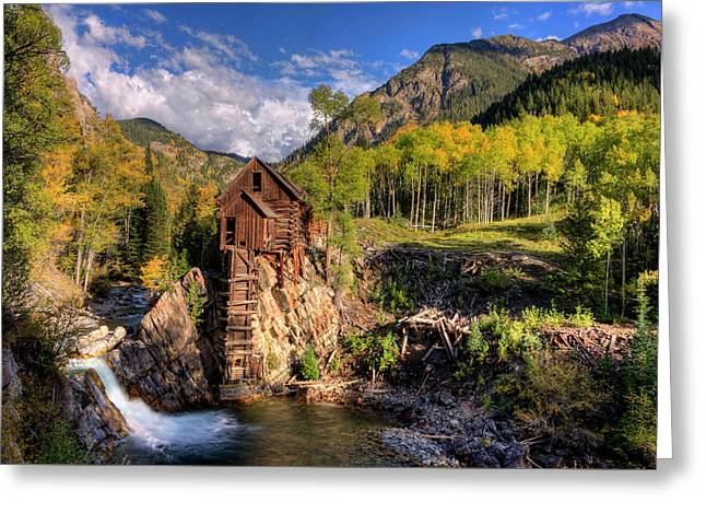 The Crystal Mill And The Crystal River Greeting Card