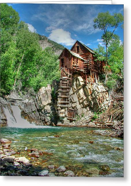 Crystal Mill Greeting Cards - The Crystal Mill in Crystal Colorado Greeting Card by Ken Smith