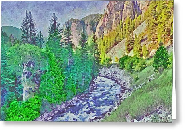 The Crystal River Around Redstone Colorado Greeting Card