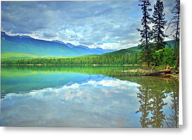 Greeting Card featuring the photograph The Crystal Waters Of Lake Annette by Tara Turner