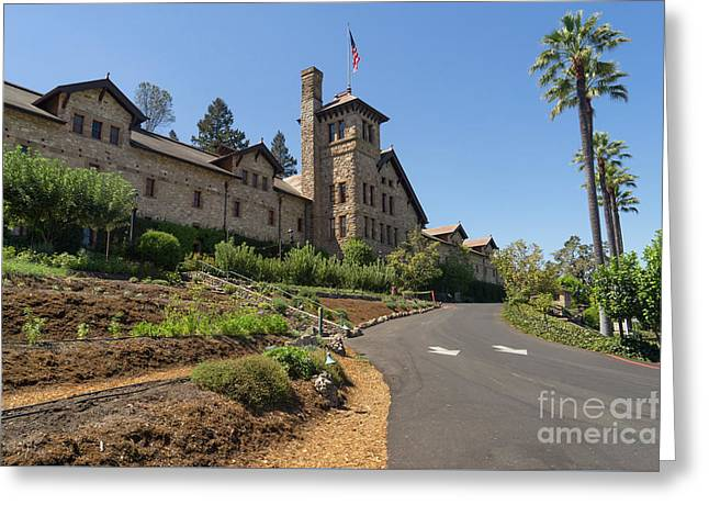 The Culinary Institute Of America Greystone St Helena Napa California Dsc1694 Greeting Card by Wingsdomain Art and Photography