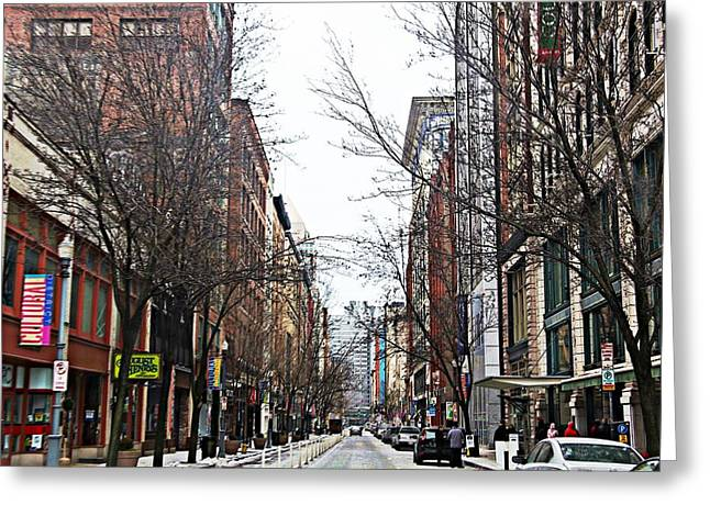 The Cultural District Greeting Card by Melinda Dominico