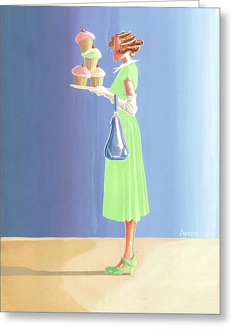The Cupcake Lady Greeting Card