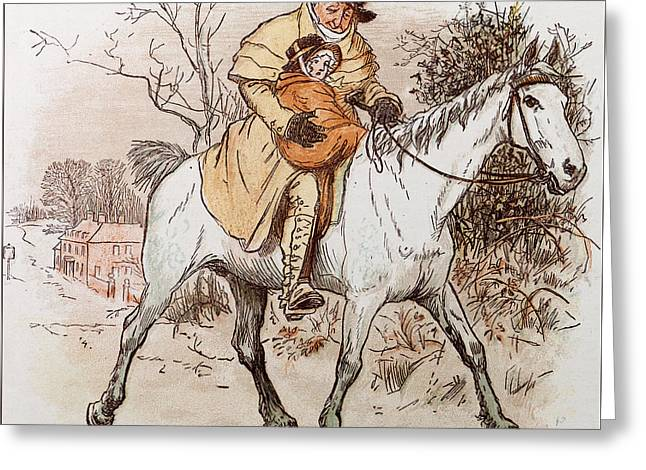 The Curmudgeons Christmas  Horse Riding  Greeting Card